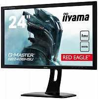 "Монитор Iiyama 24"" GB2488HSU-B2 черный TN+film LED 1ms 16:9 DVI HDMI M/M матовая HAS Pivot 350cd 170гр/160гр 1920x1080 DisplayPort FHD USB 5.6кг"