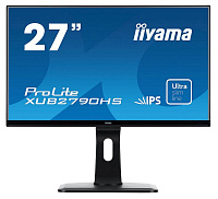 "Монитор Iiyama 27"" XUB2790HS-B1 черный IPS LED 5ms 16:9 DVI HDMI M/M матовая HAS Pivot 250cd 178гр/178гр 1920x1080 D-Sub FHD 6.5кг"