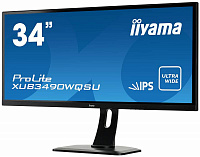 "Монитор Iiyama 34"" XUB3490WQSU-B1 черный IPS LED 5ms 16:9 HDMI M/M матовая HAS Pivot 320cd 178гр/178гр 3440x1440 DisplayPort USB 8.5кг"