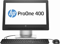 "Моноблок HP 400 G2 20"" HD+ i5 6500T (2.5)/4Gb/500Gb 7.2k/HDG530/DVDRW/Windows 7 Professional 64 dwnW7Pro64/Eth/WiFi/BT/клавиатура/мышь/Cam/черный/серый 1600x900"
