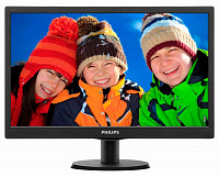 "Монитор Philips 18.5"" 193V5LSB2 (10/62) черный TN+film LED 5ms 16:9 матовая 200cd 1366x768 D-Sub 2.15кг"