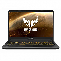 "Ноутбук ASUS ASUS TUF FX705GD-EW207T 17.3""(1920x1080 (матовый) IPS)/Intel Core i7 8750H(2.2Ghz)/8192Mb/512SSDGb/noDVD/Ext:nVidia GeForce GTX1050(4096Mb)/Cam/BT/WiFi/war 1y/2.6kg/GunMetal-Gold Steel/W10"