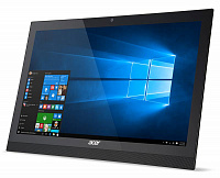 "Моноблок Acer Aspire Z1-622 21.5"" Full HD Cel N3150 (1.6)/2Gb/500Gb 5.4k/HDG/DVDRW/Windows 10 Home Single Language 64/Eth/WiFi/BT/клавиатура/мышь/Cam/черный 1920x1080"
