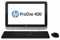 "Моноблок HP ProOne 400 G1 19.5"" Full HD i3 4160T (3.1)/4Gb/1Tb 7.2k/HDG4400/DVDRW/CR/Windows 7 Professional 64/GbitEth/WiFi/BT/120W/клавиатура/мышь/Cam/черный/серебристый 1600x900"