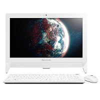 "Моноблок Lenovo C20-00 19.5"" Full HD Cel N3050 (1.6)/2Gb/500Gb 7.2k/HDG/CR/Free DOS/Eth/WiFi/клавиатура/мышь/Cam/белый 1920x1080"