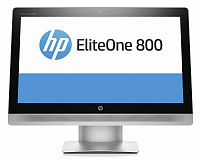 "Моноблок HP EliteOne 800 G2 23"" Full HD i3 6100 (3.7)/4Gb/500Gb 7.2k/HDG530/DVDRW/Windows 7 Professional 64 dwnW7Pro64/GbitEth/WiFi/BT/клавиатура/мышь/Cam/черный/серебристый 1920x1080"