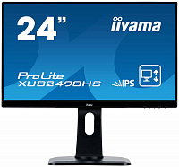 "Монитор Iiyama 23.8"" XUB2490HS-B1 черный AH-IPS LED 5ms 16:9 DVI HDMI M/M матовая HAS Pivot 250cd 178гр/178гр 1920x1080 DisplayPort FHD 5.4кг"