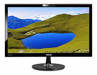"Монитор Asus 21.5"" VK228H черный TN+film LED 5ms 16:9 DVI HDMI M/M Cam матовая 250cd 1920x1080 D-Sub FHD 3.1кг"