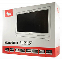 "Моноблок IRU Office K2102 21.5"" Full HD Cel G1830 (2.8)/4Gb/500Gb 7.2k/HDG/CR/Free DOS/GbitEth/WiFi/BT/300W/Cam/белый 1920x1080"