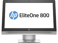 "Моноблок HP EliteOne 800 G2 23"" Full HD P G4400 (2.9)/4Gb/500Gb 7.2k/HDG4600/DVDRW/CR/Free DOS/GbitEth/WiFi/клавиатура/мышь/Cam/черный 1920x1080"