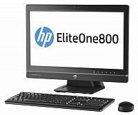 "Моноблок HP EliteOne 800 23"" i3 4160 (3.6)/4Gb/500Gb 7.2k/HDG4600/DVDRW/CR/Windows 8 Professional 64 dwnW7Pro64/GbitEth/клавиатура/мышь/Cam/черный 1920x1080"