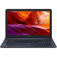 "Ноутбук ASUS ASUS X543UA-GQ2044  15.6""(1366x768 (матовый))/Intel Pentium 4417U(2.3Ghz)/4096Mb/500Gb/DVDrw/Int:Intel UHD Graphics 620/Cam/BT/WiFi/war 1y/1.9kg/Star Gray/Linux"