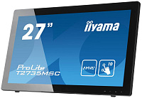 "Монитор Iiyama 27"" T2735MSC-B2 черный VA LED 5ms 16:9 DVI HDMI M/M матовая 300cd 178гр/178гр 1920x1080 D-Sub FHD USB Touch 8.2кг"
