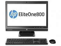 "Моноблок HP EliteOne 800 G1 23"" i3 4160 (3.6)/4Gb/500Gb 7.2k/HDG4400/DVDRW/CR/Free DOS/GbitEth/WiFi/BT/клавиатура/мышь/Cam/черный 1920x1080"