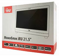"Моноблок IRU Office K2101 21.5"" Full HD i3 4160 (3.6)/4Gb/500Gb 5.4k/HDG4400/DVDRW/CR/Windows 7 Professional 64/GbitEth/WiFi/BT/300W/клавиатура/мышь/Cam/черный 1920x1080"