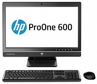 "Моноблок HP ProOne 600 G1 21.5"" i3 4160 (3.6)/4Gb/500Gb 7.2k/HDG4400/DVDRW/CR/Free DOS/GbitEth/WiFi/BT/180W/клавиатура/мышь/Cam/черный 1920x1080"