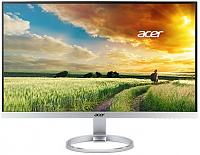 "Монитор Acer 25"" H257HUsmidpx серебристый IPS LED 4ms 16:9 DVI HDMI M/M матовая 350cd 178гр/178гр 2560x1440 DisplayPort QHD 3.7кг"