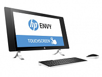"Моноблок HP Envy 24-n250ur 23.8"" QHD Touch i5 6400T (2.2)/8Gb/1Tb 7.2k/R7 A365 4Gb/CR/Windows 10 64/GbitEth/WiFi/BT/клавиатура/мышь/Cam/черный/белый 2560x1440"