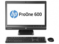 "Моноблок HP ProOne 600 G1 21.5"" Full HD i5 4590S (3)/4Gb/500Gb 7.2k/HDG4600/DVDRW/CR/Windows 7 Professional 64 dwnW7Pro64/GbitEth/WiFi/BT/180W/клавиатура/мышь/Cam/черный 1920x1080"