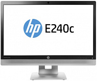 "Монитор HP 23.8"" E240c черный IPS LED 16:9 HDMI M/M Cam полуматовая HAS Pivot 250cd 178гр/178гр 1920x1080 D-Sub DisplayPort FHD USB 6.3кг"
