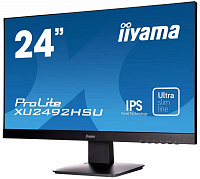 "Монитор Iiyama 23.8"" XU2492HSU-B1 черный IPS LED 5ms 16:9 HDMI M/M матовая 250cd 178гр/178гр 1920x1080 D-Sub DisplayPort FHD USB 3.6кг"