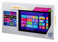 "Планшет Digma EVE 10.3 3G Atom Z3735F (1.33) 4C/RAM2Gb/ROM16Gb 10.1"" IPS 1280x800/3G/WiFi/BT/5Mpix/2Mpix/Windows 8.1/черный/Touch/microSDHC 32Gb/mHDMI/minUSB/7000mAh"