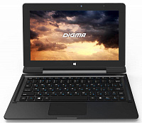 "Планшет Digma EVE 1800 3G Atom Z8300 (1.44) 4C/RAM2Gb/ROM32Gb 10.1"" IPS 1366x768/3G/WiFi/BT/2Mpix/2Mpix/Windows 10/графит/Touch/microSD 128Gb/mHDMI/minUSB/7700mAh"