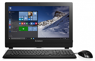 "Моноблок Lenovo S200z 19.5"" HD+ P N3700 (1.6)/2Gb/500Gb/HDG/DVDRW/CR/Windows 10 Home Single Language 64/Eth/клавиатура/мышь/Cam/черный 1600x900"
