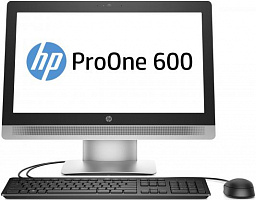 "Моноблок HP ProOne 600 G2 21.5"" Full HD Touch i3 6100 (3.7)/4Gb/500Gb 7.2k/HDG530/DVDRW/Windows 10 Professional 64/GbitEth/WiFi/BT/клавиатура/мышь/черный/серебристый 1920x1080"