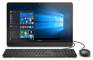 "Моноблок Dell Inspiron 20 3052 19.5"" HD+ P N3700 (1.6)/4Gb/1Tb 5.4k/HDG/DVDRW/CR/Windows 10 Home Single Language 64/GbitEth/WiFi/BT/45W/клавиатура/мышь/Cam/черный 1600x900"