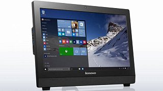 "Моноблок Lenovo S200z 19.5"" HD+ P J3710 (1.6)/4Gb/500Gb 7.2k/HDG/DVDRW/Windows 10/Eth/Cam/черный 1600x900"