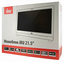 "Моноблок IRU Office K2101 21.5"" Full HD P G3240 (3.1)/4Gb/500Gb 7.2k/HDG/DVDRW/CR/Free DOS/GbitEth/WiFi/BT/300W/Cam/черный 1920x1080"