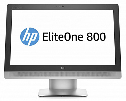 "Моноблок HP EliteOne 800 G2 23"" Full HD i5 6500 (2.9)/4Gb/500Gb 7.2k/HDG4600/DVDRW/Windows 10 64 +W7Pro/GbitEth/WiFi/клавиатура/мышь/Cam/черный 1920x1080"